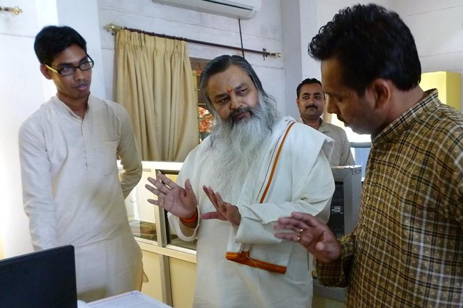Brahmachari Girish visit to Examination Department of Maharishi Mahesh Yogi Vedic Vishwavidyalaya Brahmachari Girish Ji visited Examination Department of Maharishi Mahesh Yogi in August 2014 and understood complete process of exams conducted by the university.